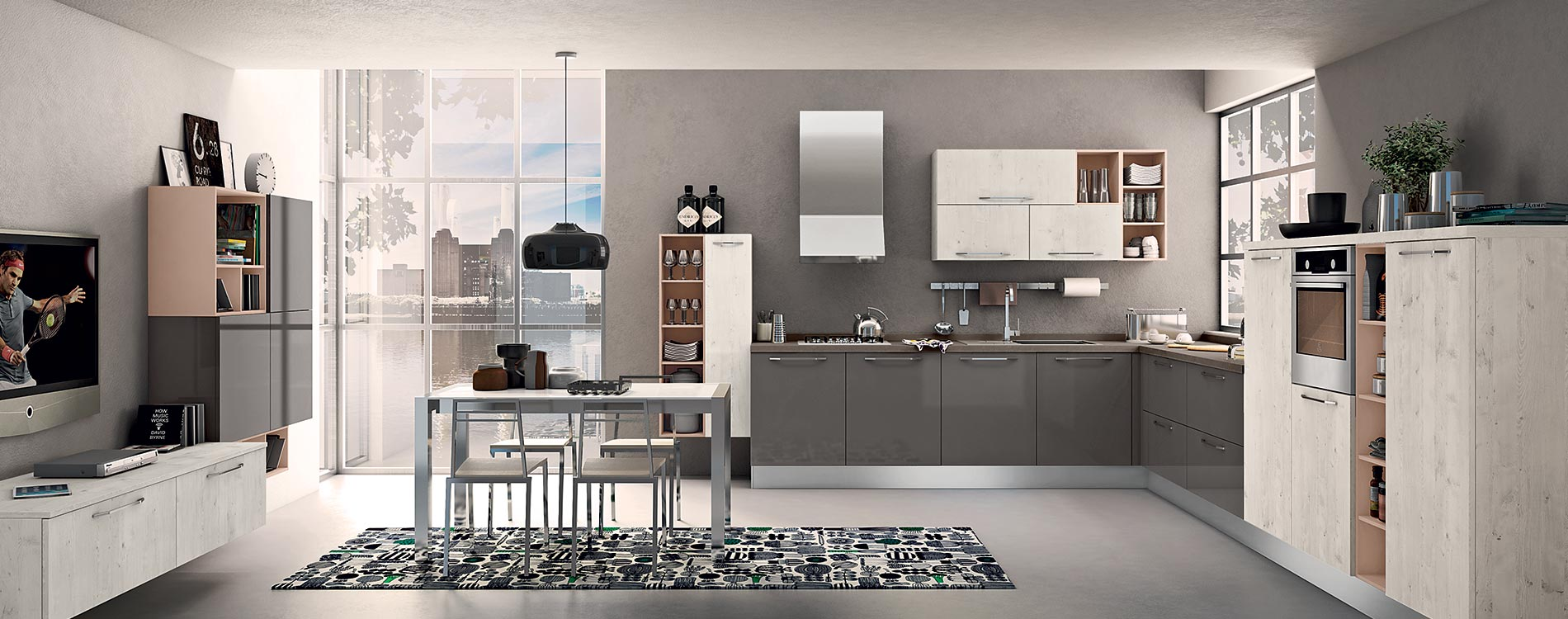 Mobilificio europa cucine lube stosa - Arredamenti moderni cucine ...